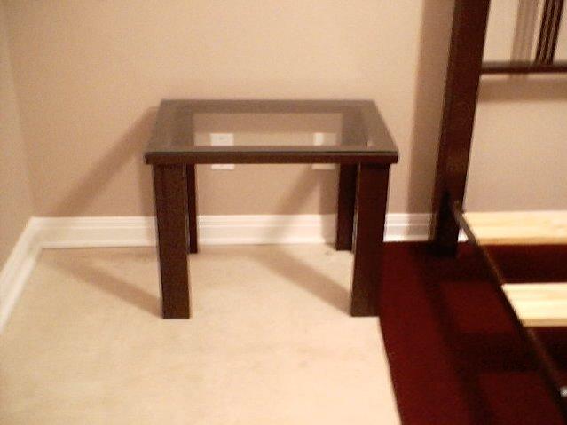 Bedside table--finished